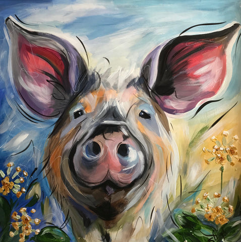 Bessie (Pig) Original by Susan Leigh