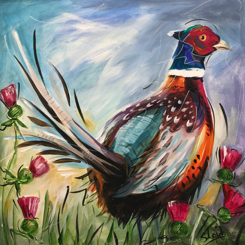Clive (Pheasant) Original by Susan Leigh