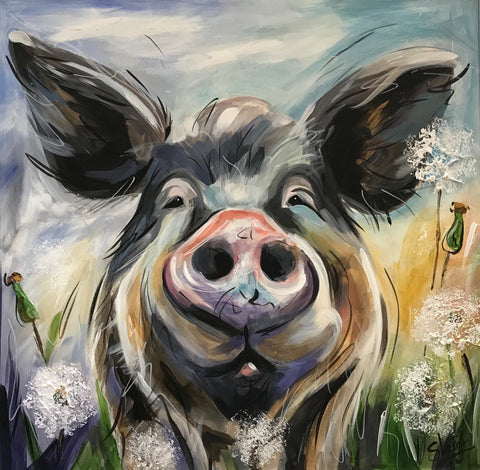 Florrie (Pig) Original by Susan Leigh *SOLD*
