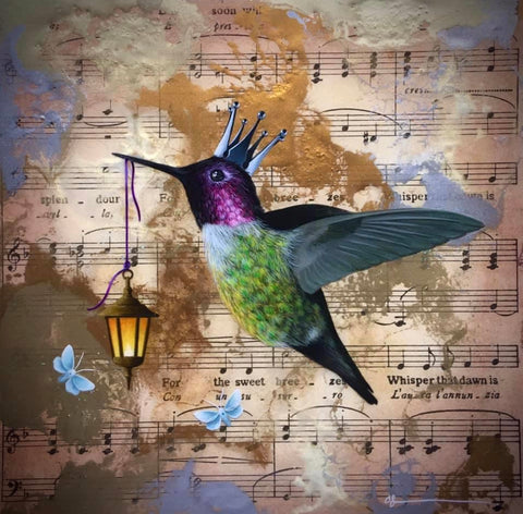 The Bringer Of Light (Hummingbird) Original by Sarah Louise Ewing *SOLD*
