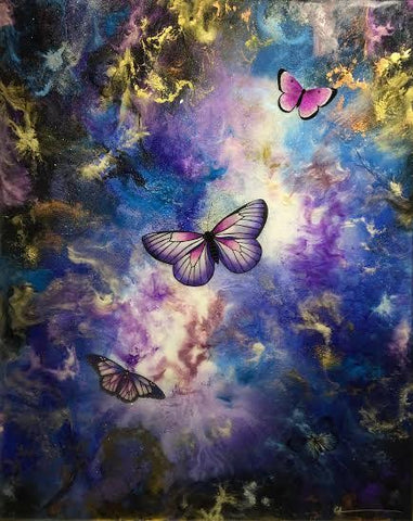 Butterfly Ball Original by Sarah Louise Ewing *SOLD*