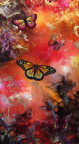 Butterfly McQueen Original by Sarah Louise Ewing *SOLD*