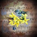Glad Tidings (Nuthatch) Original by Sarah Louise Ewing *SOLD*