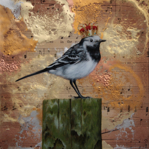 Little Master Wagtail Original by Sarah Louise Ewing *NEW*