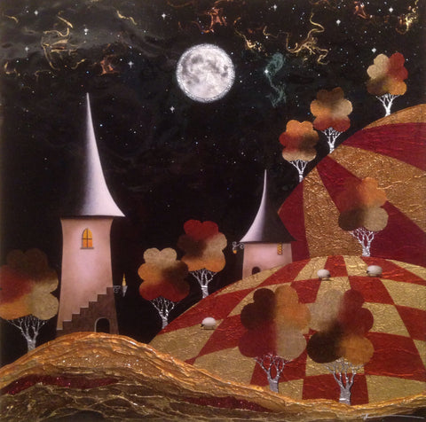 Moonlight And Dreams Original by Sarah Louise Ewing *SOLD*