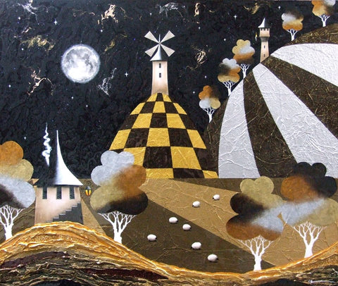 Once Upon A full Moon Original by Sarah Louise Ewing *SOLD*