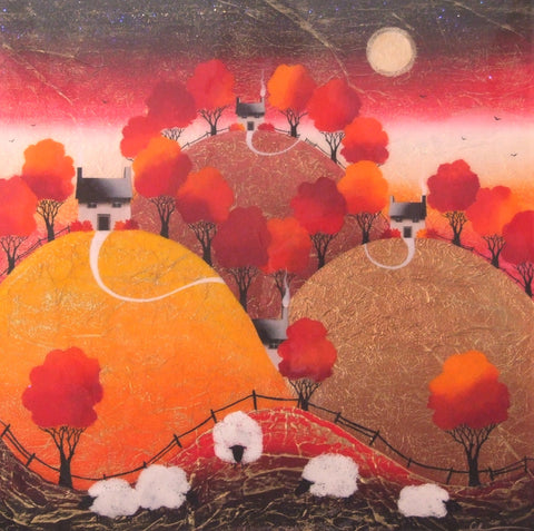 The Day Is Almost Over Original by Sarah Louise Ewing *SOLD*