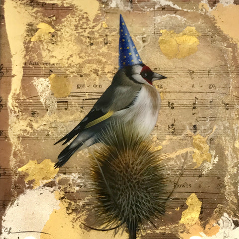 Thistletigue (Goldfinch) Original by Sarah Louise Ewing *SOLD*