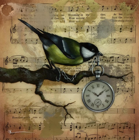 Time is Our Greatest Treasure Original by Sarah Louise Ewing *SOLD*