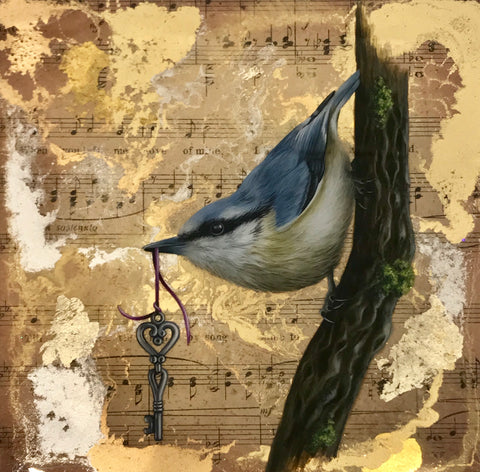 Trust (Nuthatch) Original by Sarah Louise Ewing *SOLD*