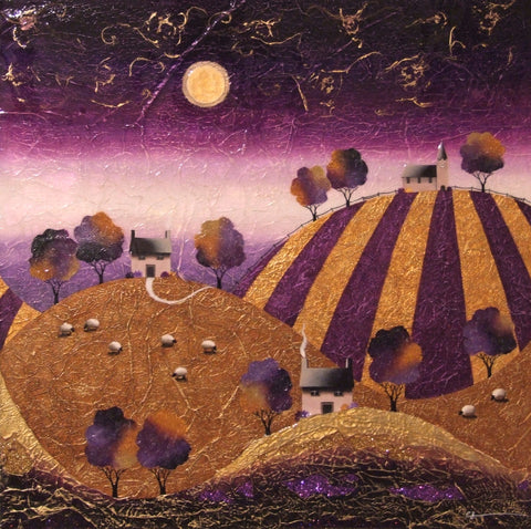 Violet Hill Original by Sarah Louise Ewing *SOLD*