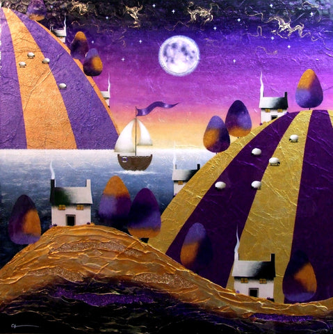 We Sail At Midnight Original by Sarah Louise Ewing *SOLD*