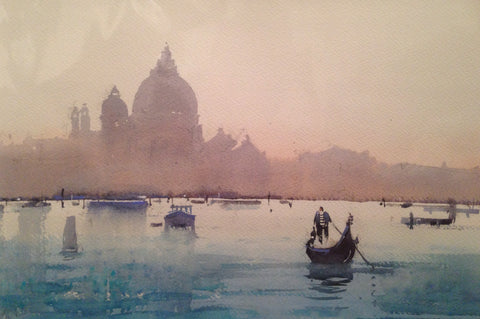 Venetian Sunrise Original by Steve Rigby