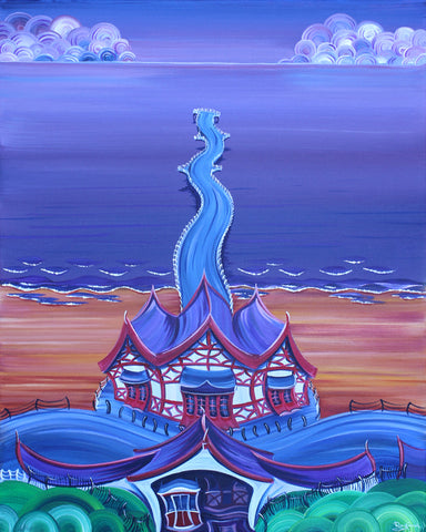 Saltburn Piering by Rayford-Limited Edition Print-The Acorn Gallery-Rayford-artist-The Acorn Gallery