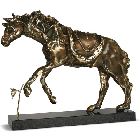 Horse Saddled With Time Bronze Sculpture by Salvador Dali
