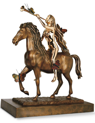 Lady Godiva With Butterflies Bronze Sculpture by Salvador Dali