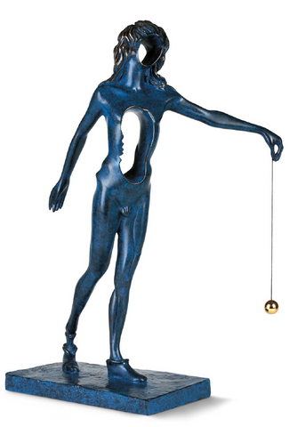 Surrealist Newton Bronze Sculpture by Salvador Dali