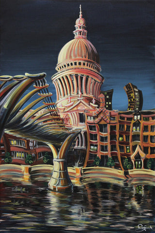 St. Pauls Millenium by Rayford-Limited Edition Print-The Acorn Gallery-Rayford-artist-The Acorn Gallery
