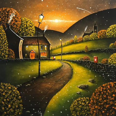 Early Evening At The Mill Original by Tony Gittins *SOLD*