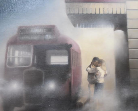 Last Bus, First Embrace by Tim Shorten-Limited Edition Print-The Acorn Gallery-The Acorn Gallery
