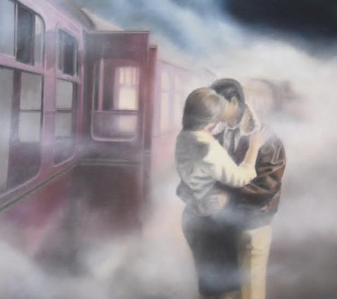 Last Train, First Kiss by Tim Shorten-Limited Edition Print-The Acorn Gallery-The Acorn Gallery