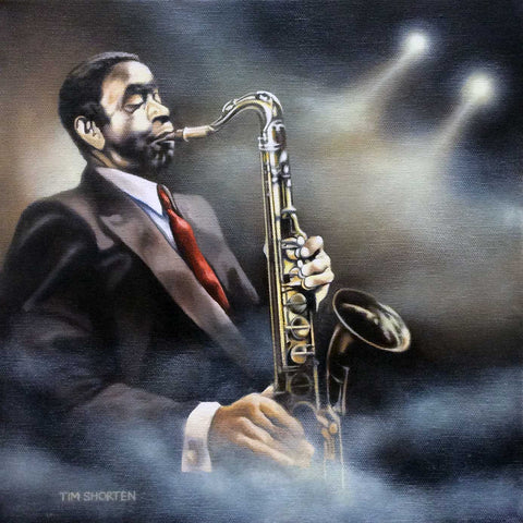 Music Is My Soul (Solo Saxophone Player) Jazz Original by Tim Shorten *SOLD*