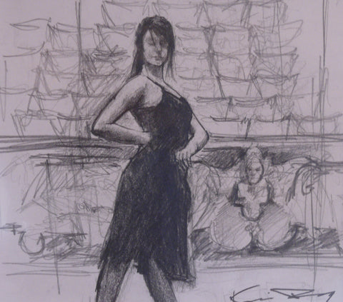 The Dancer Original Sketch by Kevin Day *SOLD*