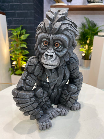 Baby Gorilla by Edge Sculpture