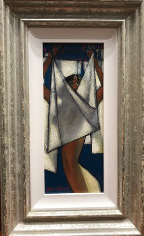 Laundry Maid Original by Andrei Protsouk-Original Art-Andrei-Protsouk-artist-The Acorn Gallery