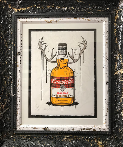 Iron Stag - Whisky Print by JJ Adams