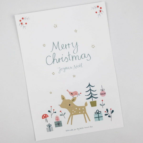 Little Cube - 'Merry Christmas - Joyeux Noël' sweet print