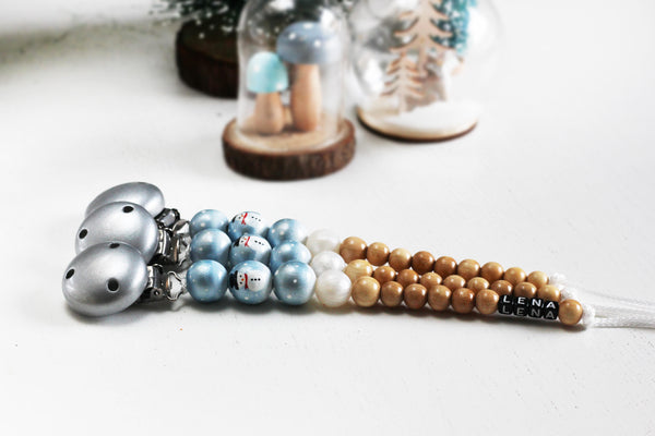 My Lil Cutie Pie - Winter Pacifier Clip
