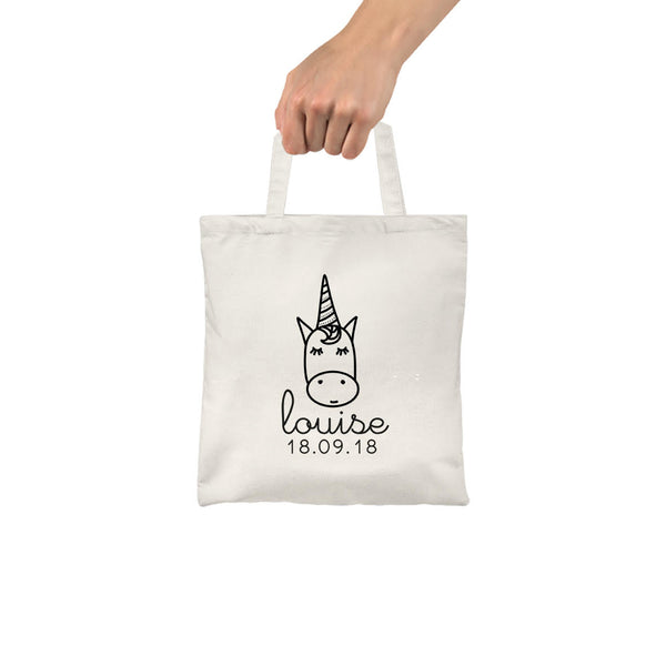 Mes Petites Affiches - Customizable Unicorn Tote Bag for Kids