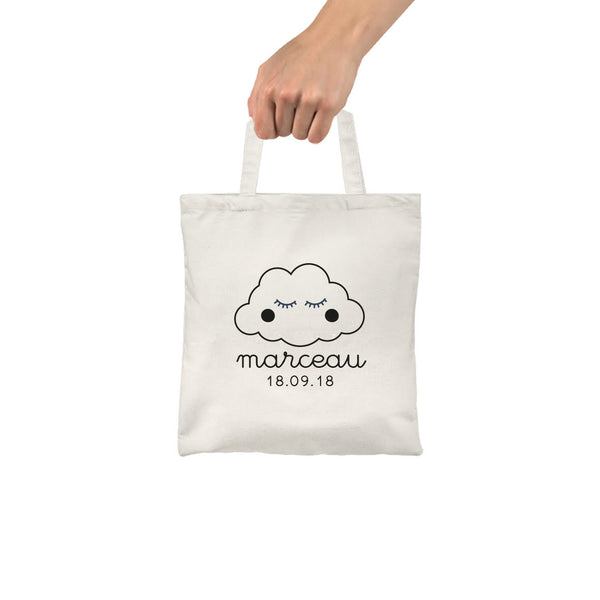 Mes Petites Affiches - Customizable Cloud Tote Bag for Kids