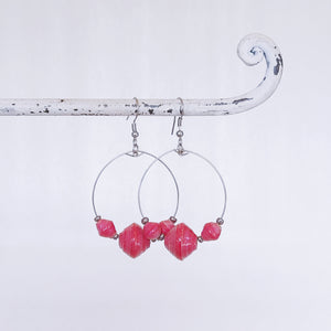 Abodo Earrings Fuchsia Pink