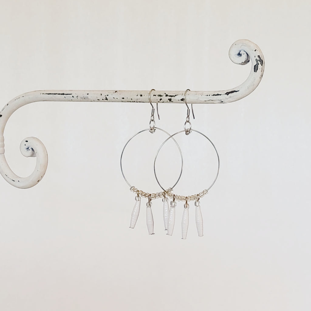 Lamwaka Earrings White
