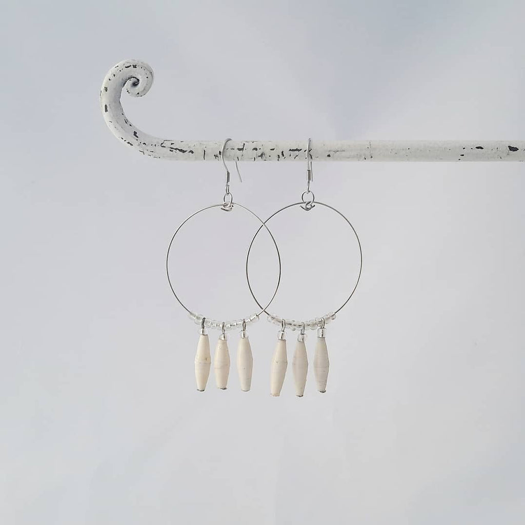 Lamwaka Earrings Natural White