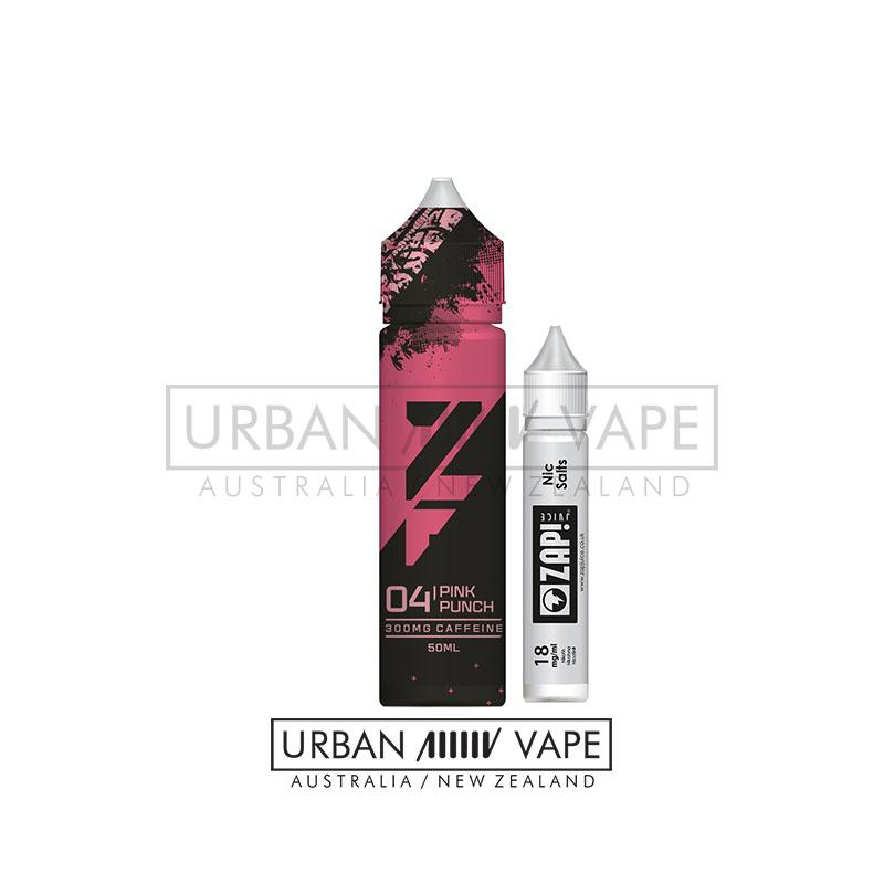 ZAP! Z FUEL - 04. Pink Punch 60ml - Urban Vape Shop New Zealand