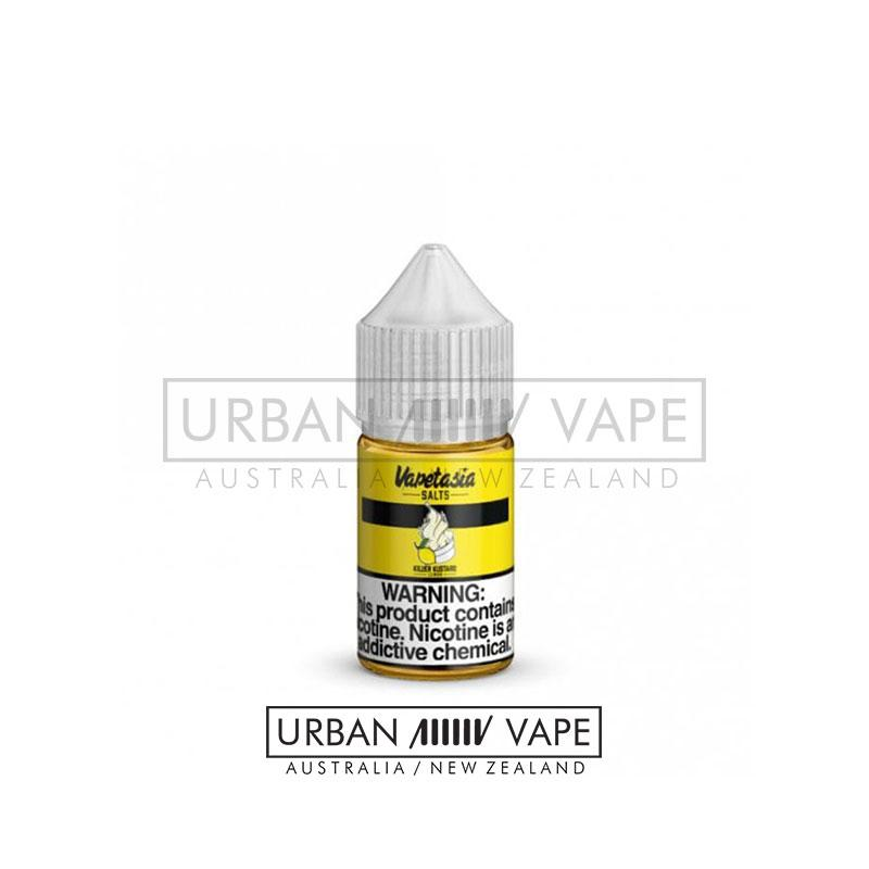 VAPETASIA - Killer Kustard Salts Lemon 30ml - Urban Vape Shop New Zealand