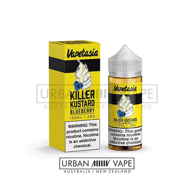 VAPETASIA - Killer Kustard Blueberry 100ml - Urban Vape Shop New Zealand