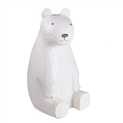 Wooden T-Lab Sitting Polar Bear