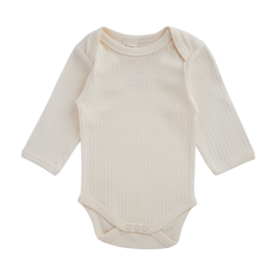 Nature Baby Pointelle Long Sleeve Bodysuit