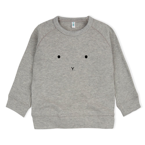 Grey Bunny Sweatshirt, Dapper Mr Bear, Organic Zoo - www.dappermrbear.com