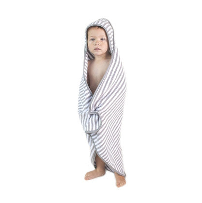 Hooded Baby Towel - Stripes | Dapper Mr Bear