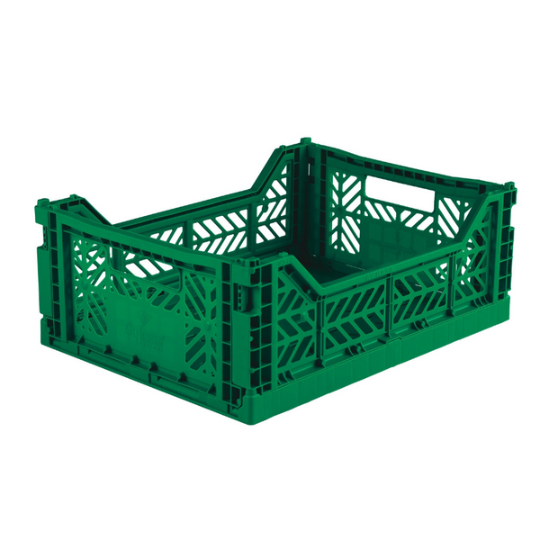 AY-KASA Foldable Crate - Dark Green Midi