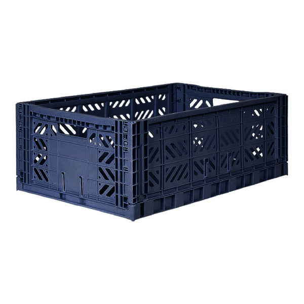 AY-KASA Foldable Crate - Navy Maxi