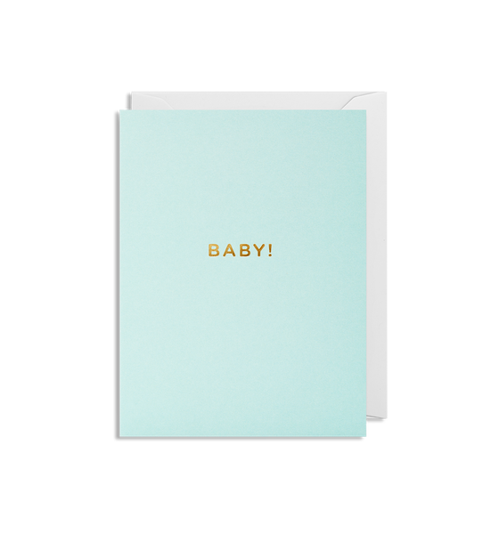 BABY! card in mint - Lagom Designs - Dapper Mr Bear - www.dappermrbear.com