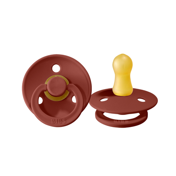 BIBS Pacifier - Rust 2 Pack - Size Two - Dapper Mr Bear - www.dappermrbear.com - NZ