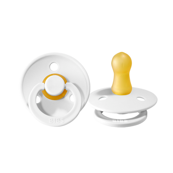 BIBS Pacifier - White 2 Pack - Size One - Dapper Mr Bear - www.dappermrbear.com - NZ
