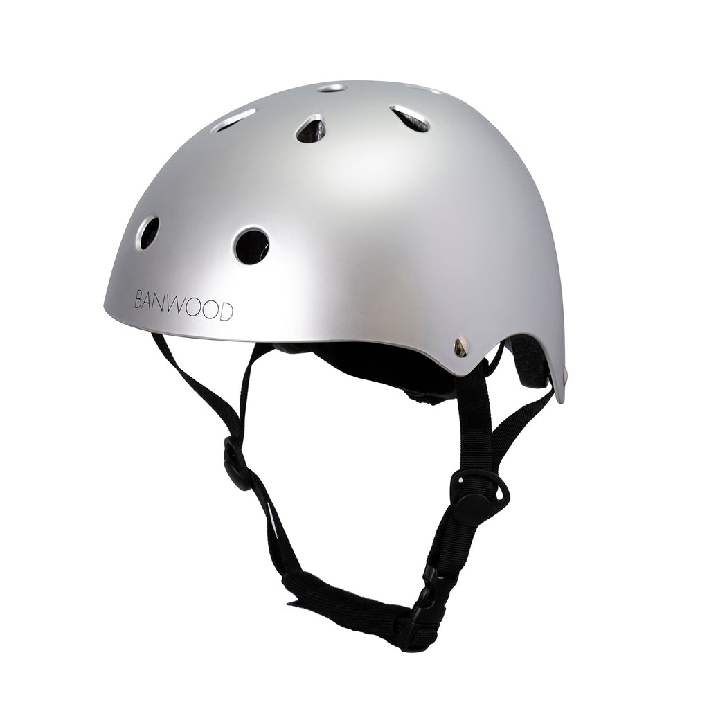Banwood Classic Helmet - Chrome - Dapper Mr Bear - www.dappermrbear.com - NZ